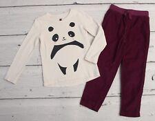 TEA COLLECTION Japan Panda Tee & Cord Pants sz 5