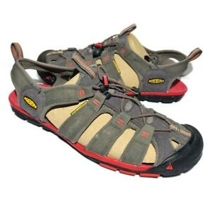 Keen Clearwater CNX Men's Sandals Size 10.5 Red Gray Water Athletic Shoes