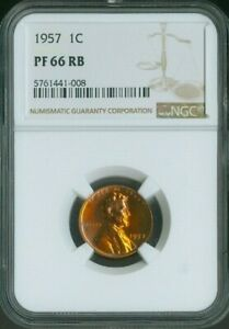 1957 Lincoln Wheat Cent NGC PROOF PF66 PF-66 RED BROWN RB PENNY 1C QUALITY✔️
