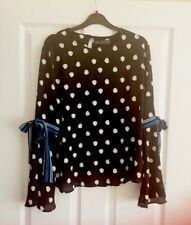Ladies Women's Marks And Spencer's M&S Per Una Kimono Top Blouse Shirt Size 10