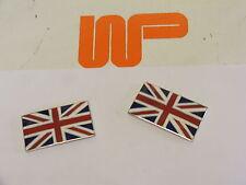 CLASSIC MINI - PAIR OF SELF ADHESIVE UNION JACK FLAG BADGES - WPA9577X - UJB007