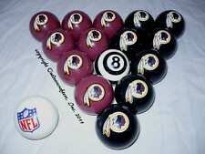 NEW NFL Washington Redskins Football Billiard Pool Cue Ball Set FREE SHIPPING !