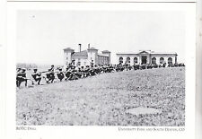"*Postcard- ROTC Drill""-Practicing Rifles -1918-*University Pk & S Denver (#158)"