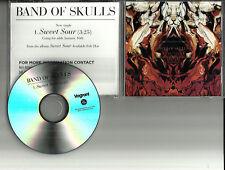 BAND OF SKULLS Sweet Sour RARE 1 Trk USA TST PRESS PROMO DJ CD single 2012 MINT