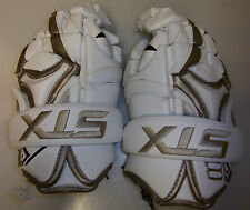 "New Stx K18 lacrosse gloves 12"" white gold Lax mens box field kyle harrison"