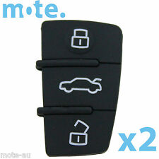 2 x Audi A2 A3 A4 A6 3 Button Key Replacement Remote Shell/Case/Enclosure
