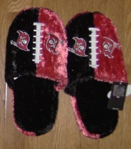 Tampa Bay Buccaneers Plush Slippers FREE SHIPPING