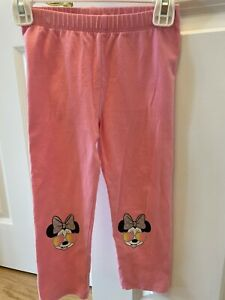 Gap Baby Toddler Girl's Pink Minnie Mouse Crop Leggings, 5T