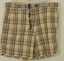 9ca3026be83 Cremieux Premium Denim Shorts   Tan   Blue Plaid Mens Size 40 100% Cotton  SUMMER