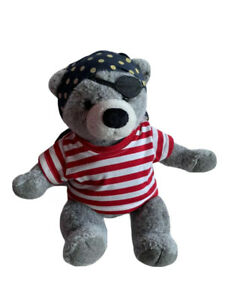 LANDS END Plush By Gund Limited Edition Pirate Teddy Bear Stuffed Animal 18""