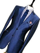 LUXURY MENS OZWALD BOATENG BESPOKE SAVILE ROW ROYAL BLUE SUIT 40R W34 X L32