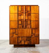 Mid Century Modern Dresser Highboy Lane Mosaic Pueblo Brutalist 5 Drawer Wood