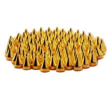 SZD 100pc Screwback Gold Cone Spikes Studs Leathercraft DIY Punk Spots Bullet L2