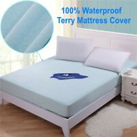 Mattress Cover Protector Waterproof Fitted Pad Cover Queen King Hypoallergenic