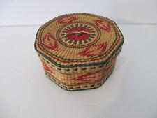 Vintage Oriental Woven Basket