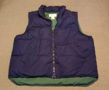 Vintage EDDIE BAUER Men's Puffer Goose DOWN Vest sz L Navy Green