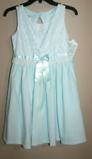 Bonnie Jean Girl Light Blue Party Easter Dress Sz: 14