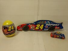 Nascar Jeff Gordon 3 Item Set Galerie Cady Egg Car Tin Cardboard Car   t2948