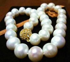 """Exquisite 14MM WHITE AKOYA SHELL PEARL NECKLACE 18"""" JN1778"""