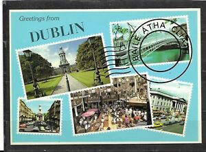 """Unused Continental Size Picture Postcard Of """"Greetings From Dublin"""", Ireland"""