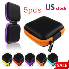 5X Mini Pocket Case Handy Zipper Storage Bag For Earphone Earbuds SD Card