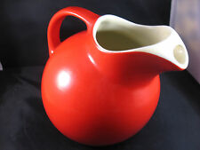 HALL Pottery CHINESE RED BALL JUG WITH ICE LIP