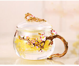 Glass Tea Cup Office Coffee Mug with Lid Filter Tea Water Separate Tea Home Cup