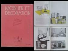 MOBILIER ET DECORATION N°4 1947 LANDAULT, ROYERE, GABRIEL, GENET ET MICHON,ADNET