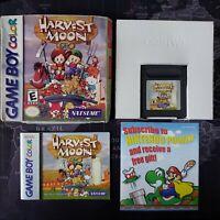 Harvest Moon GBC - Nintendo Game Boy Color - Box & Manual - New Save Battery