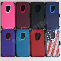 For Samsung Galaxy S9/S9 Plus Defender Case Cover (with Belt Clip Fits Otterbox)