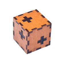 Wooden Box 3D Puzzle Intelligence Toys Kongming Lock Brain Teaser Cube Toy GS