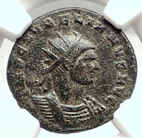 AURELIAN Authentic Ancient 274AD Cyzicus Genuine Roman Coin NGC Certified i73048