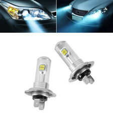 2X H7 80W 3000LM 6000K LED Fog DRL Driving Car Head Light Lamp Bulbs Super White