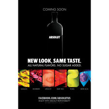 ABSOLUT  POSTER 24 BY 36  NEW