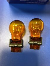 Wagner Lighting 3457NA Miniature Lamp, Incandescent, Amber, 3457na, Pair !