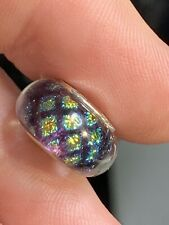 Authentic CHAMILIA CRYSTAL  925 STERLING SILVER Dichroic Glass  Bead Charm