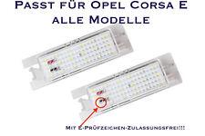 LED SMD Kennzeichenbeleuchtung Opel Corsa E alle Modelle (XL)