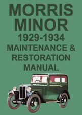 MORRIS MINOR WORKSHOP MANUAL: 1929-1934