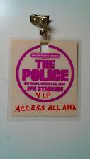 Rare authentic vintage the police laminate Vip Access pass at Jfk Stadium Phila