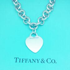Tiffany & Co Collana Solido Argento Finissimo VUOTA Heart pesanti collana di collegamento