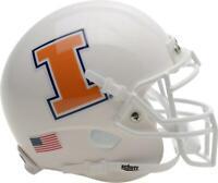 Illinois Fighting Illini Schutt White Mini Football Helmet - Fanatics