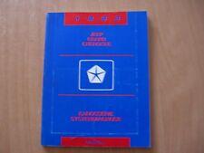 Werkstatthandbuch Karosserie Systemdiagnose Jeep Grand Cherokee 1993
