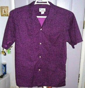 Vintage Hawaii  Floral Hawaiian  Button up   shirt  Large   Purple  👌