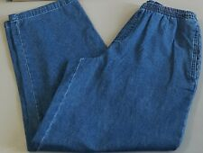 Womens Pull On Denim Jeans size Small Short Elastic Waist blue NWT