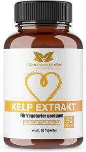 BIO Kelp - Natürliches Jod Hochdosiert für Vegetarier aus Braunalge 150 µg Jod
