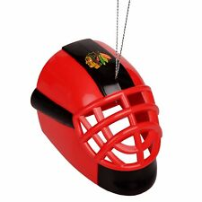 Chicago Blackhawks Goalie Mask Hockey Plastic Christmas Tree Holiday Ornament