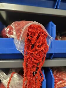 Red Coral Enhanced Color Cupolini 10 Strands 5 to 12 mm  !! Clearance