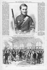 1870 FRANCE GERMAN WAR Enlisting Paris - Surrey Rifle Volunteers Prize (051)