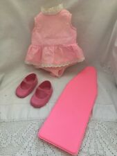 Vintage Ideal Doll BIZZIE LIZZIE Pink ROMPER & Mary Janes SHOES Ironing Board