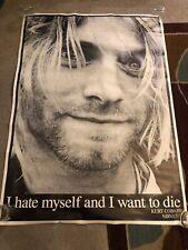 Huge Original 90s Kurt Cobain I Hate Myself And I Want To Die Nirvana Poster